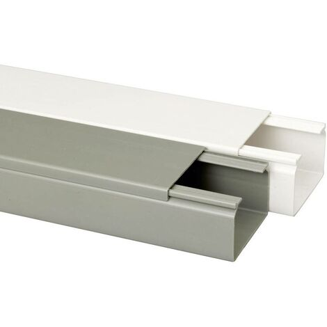 Goulotte de câble Heidemann 09982 (L x l x h) 2000 x 60 x 40 mm 1 pc(s) blanc pur