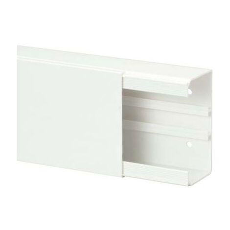 Goulotte de câble Heidemann 09996 (L x l x h) 2000 x 110 x 60 mm 1 pc(s) blanc pur