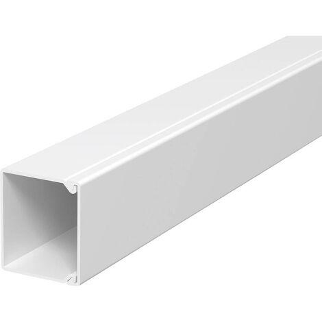 Goulotte de câble OBO Bettermann 6189547 (L x l x h) 2000 x 40 x 40 mm 1 pc(s) blanc pur