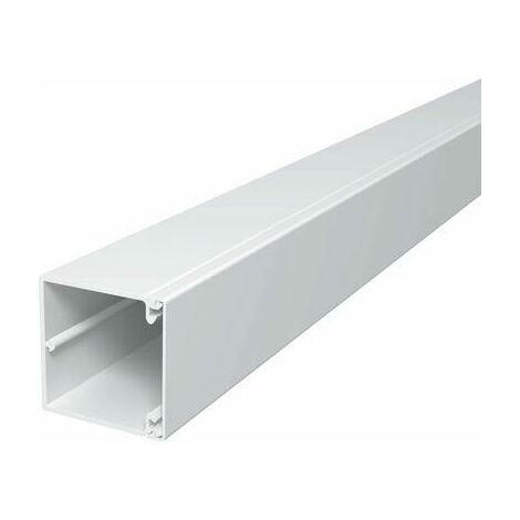 Goulotte de câble OBO Bettermann WDK60060RW 6191193 (L x l x h) 2000 x 60 x 60 mm 1 pc(s) blanc pur