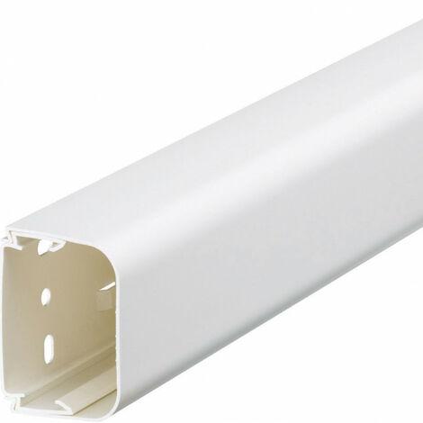 Goulotte de climatisation p65mm h90mm IK08-IK10 PVC rigide RAL 9010 blanc paloma (CLMU65090)