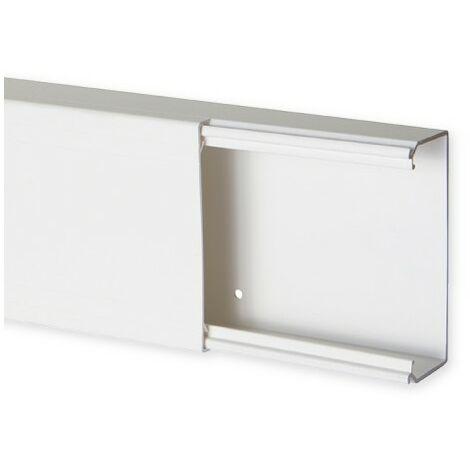 Goulotte de distribution TA-E 100x40mm - Barre de 2m - 1 compartiment - Blanc