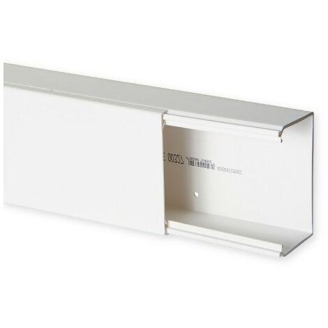 Goulotte de distribution TA-E 100x60mm - Barre de 2m - 1 compartiment - Blanc