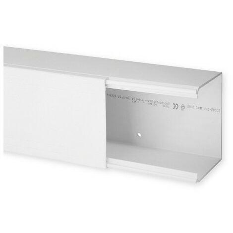 Goulotte de distribution TA-E 100x80mm - Barre de 2m - 1 compartiment - Blanc