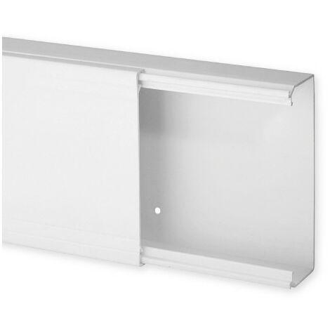 Goulotte de distribution TA-E 120x40mm - Barre de 2m - 1 compartiment - Blanc