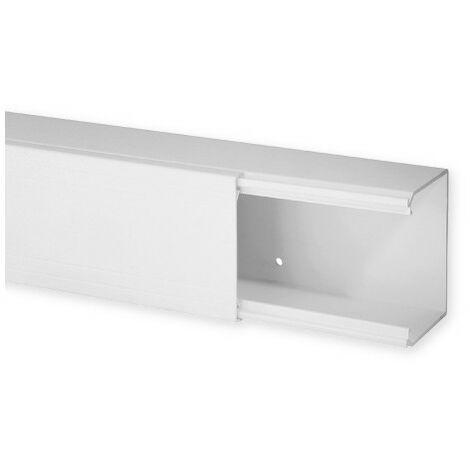 Goulotte de distribution TA-E 80x60mm - Barre de 2m - 1 compartiment - Blanc