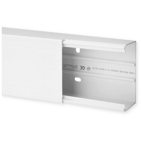 Goulotte de distribution TA-G 100x60mm - Barre de 2m - 1 compartiment - Blanc