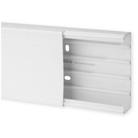 Goulotte de distribution TA-G 120x40mm - Barre de 2m - 1 compartiment - Blanc