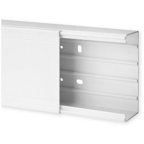 Goulotte de distribution TA-G 120x60mm - Barre de 2m - 1 compartiment - Blanc