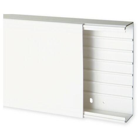 Goulotte de distribution TA-G 200x60mm - Barre de 2m - 1 compartiment - Blanc