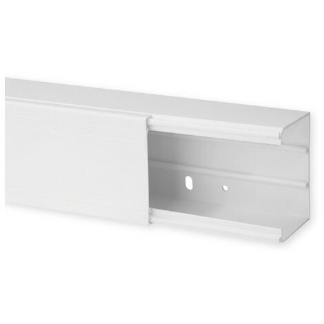 Goulotte de distribution TA-G 80x60mm - Barre de 2m - 1 compartiment - Blanc