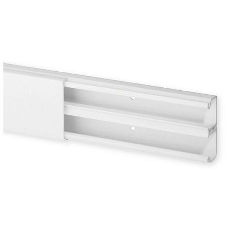 Goulotte de distribution TA-S 40x17mm - Barre de 2m - 2 compartiments - Blanc