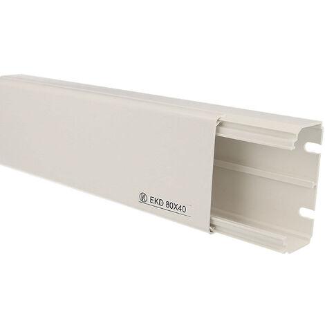Goulotte électrique PVC 80 x 40 mm KOPOS