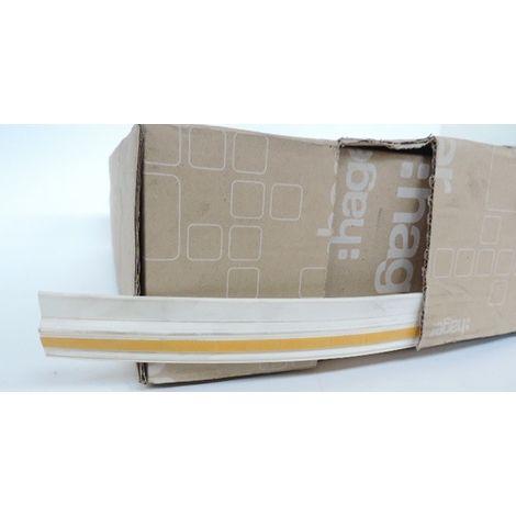 Goulotte flexible PVC h12mm x p7mm (Bobine de 20m) RAL9010 blanc paloma LIFEA HAGER LFR701209010T2