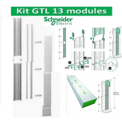Goulotte GTL 13 Modules 2 compartiments clipsable Rési9 Schneider R9HKT13