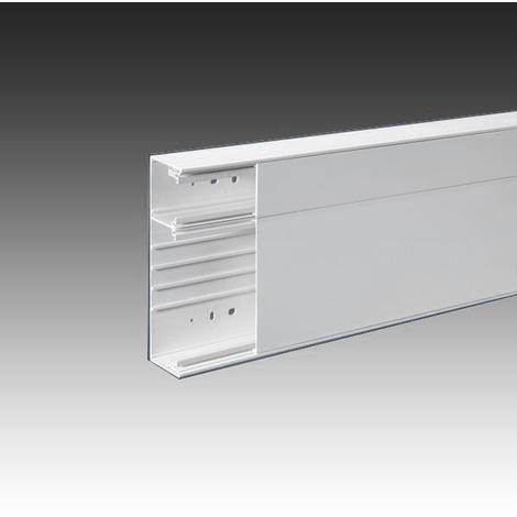 Goulotte GTL Technique Logement 2.60 ML 2Compart, Couvercle Blanc Pour Tableau Modulaire Iboco