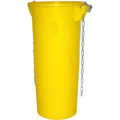 Goulotte jaune avec chaîne et mousquetons - Mob/Mondelin
