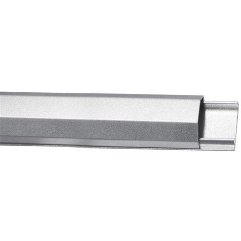 Goulotte passe-cables - aluminium - 33mm x 1100mm - argenté