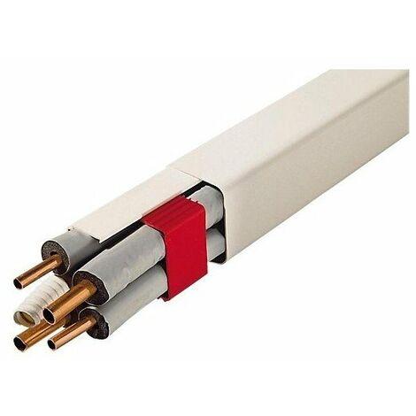 Goulotte plastique climatisation L 2 m - 80 x 60 mm OU 110 x 75 mm