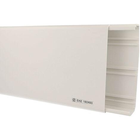 Goulotte PVC 180 x 60 mm - carton de 6m