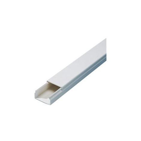 Goulotte PVC 2 m,15x30 mm, blanc