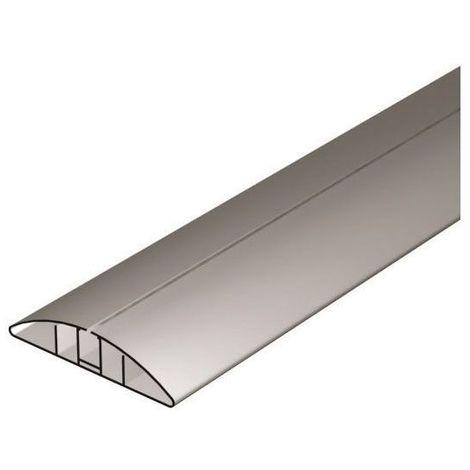 Goulotte pvc en applique - Longueur : 1500 mm - Décor : Noir - ASA