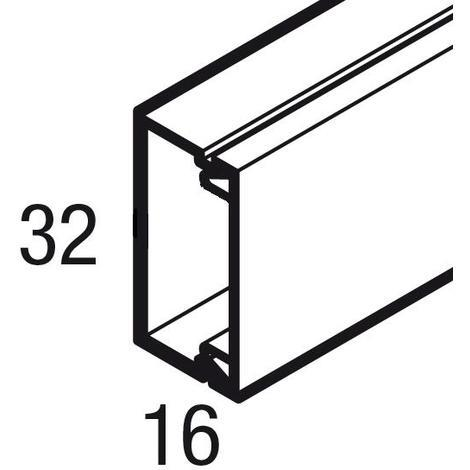Goulotte sans cloison AXIS mini - 32x16 mm - Blanc
