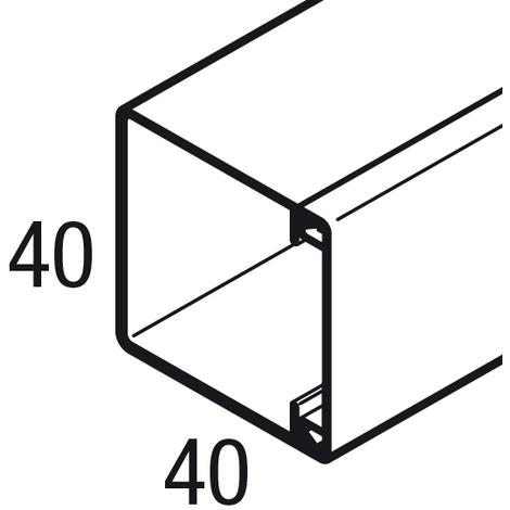 Goulotte sans cloison AXIS mini - 40x40 mm - Blanc