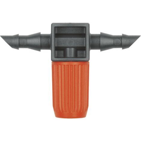 Goutteur en ligne pour tuyau 4,6mm 0 à 20 L/H (10 pièces)