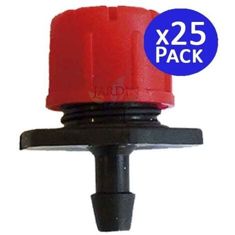 Goutteur rouge réglable de 0 à 70 l / h.