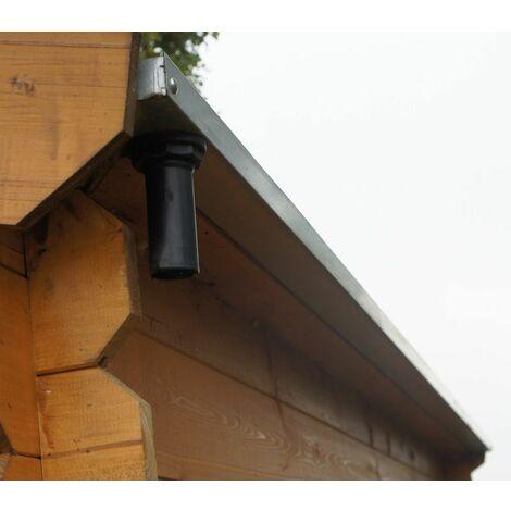 Gouttière pour abri de jardin bois SOLEIL 12,5 M²