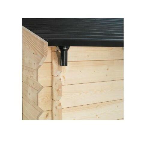 Gouttière pour abri de jardin en bois SOLEIL® 12 m²
