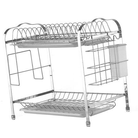 ¨¦gouttoir ¨¤ vaisselle et ¨¦gouttoir de cuisine en acier au carbone, ¨¦tag¨¨re de rangement pour vaisselle