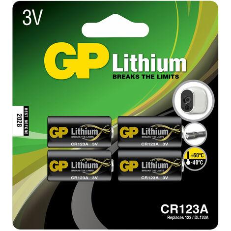 GP Batteries GPPCL123A084 GP Lithium CR123A card of 4