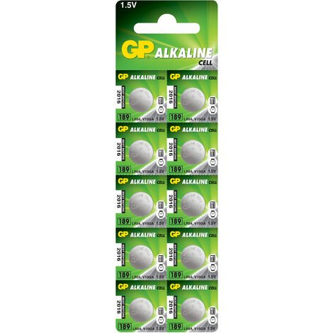 """main image of """"GP GPPBA189F007 189 LR54 L1131 Alkaline Button Cell (Card 10)"""""""