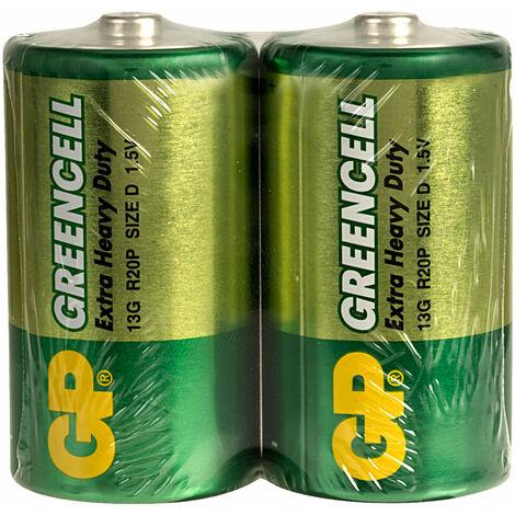GP GPPCC13KC001 Zinc Chloride Cell - D (Pack 2)