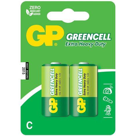 GP Greencell Piles Salines C/R14 Blister de 2