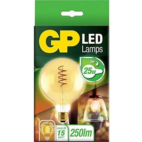 GP Lighting Filament SpiralFlame E27 G125 5W (25W) 250lm GP085195 marca GP BATTERIES