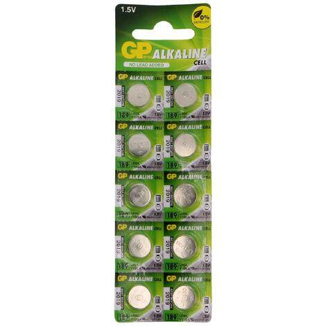GPBM Carte de 10 piles LR54 Alcaline Generique