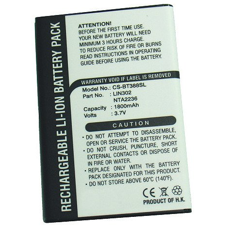 GPS battery 3.7V 1800mAh - NTA2236,LIN302