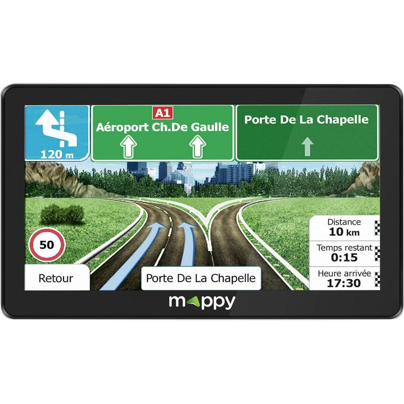 Mise /à Jour de la Carte /à Vie Sat NAV 7 Pouces syst/ème de Navigation Virage /à Virage parl/é pour Voitures GPS pour Voiture