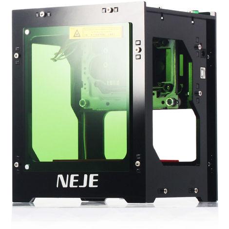 Grabador laser de 3000 mW, mini maquina de grabado inteligente AI de 445 nm