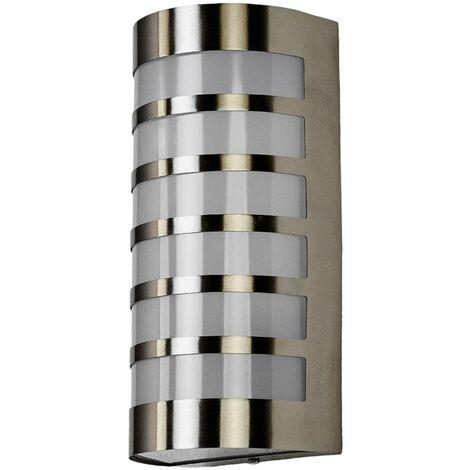 Graceful stainless steel outdoor wall light Alvin