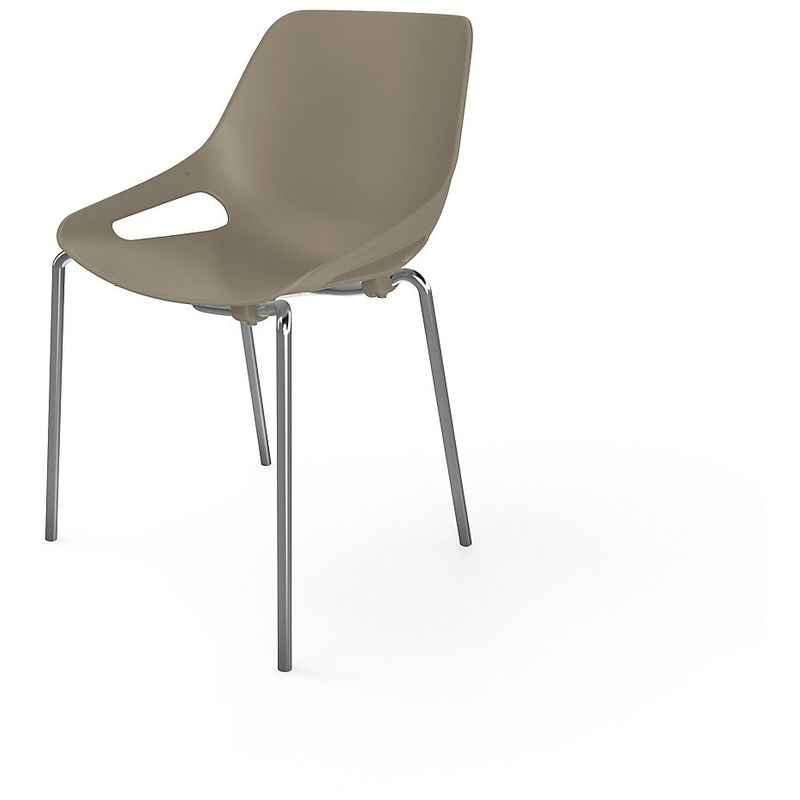 EOL | Chaise 4 pieds chromés | Gris - Gris
