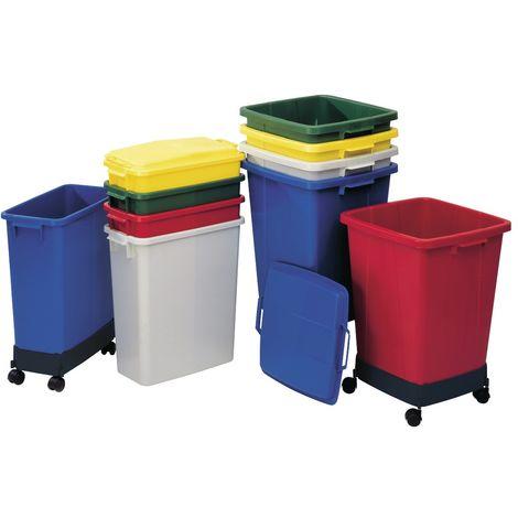 Graf Abfall-//Wertstoffsammler 90l grau Kunststoff H600xB485xT510mm