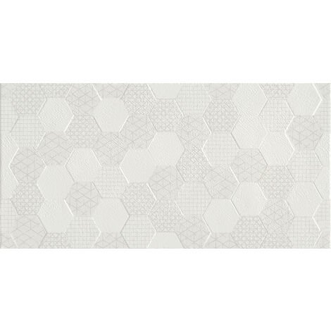 Grafen White Décor 30x60 Ceramic Tile