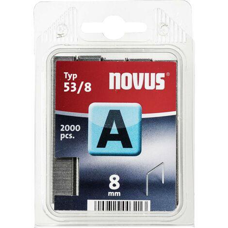 Graffette - 2000 pezzi Novus 042-0356 tipo 53/8 extra dure dimensioni (A x L) 8 mm x 11.3 mm