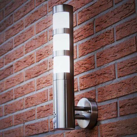 Grafner Edelstahl Wandlampe mit Bewegungsmelder 137WBPIR Wandleuchte außen