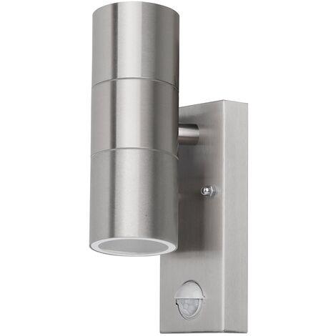 Grafner® Edelstahl Wandlampe mit Bewegungsmelder 26APIR Leuchte Lichtschein Up&Down/Oben&Unten