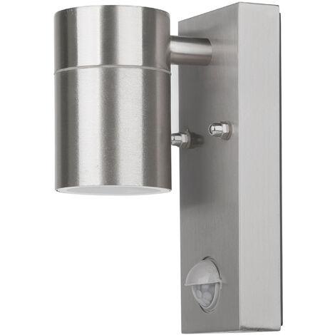 Grafner® Edelstahl Wandlampe mit Bewegungsmelder 26BPIR Leuchte Lichtschein Down/Unten